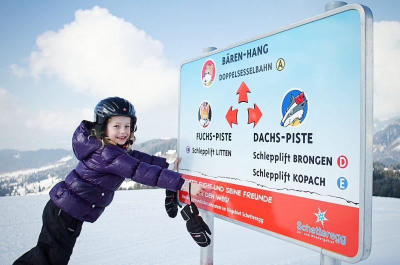 Schetteregg, Image Bilder, Skirouten, Kinderland, Kinder, Schnee, Feature